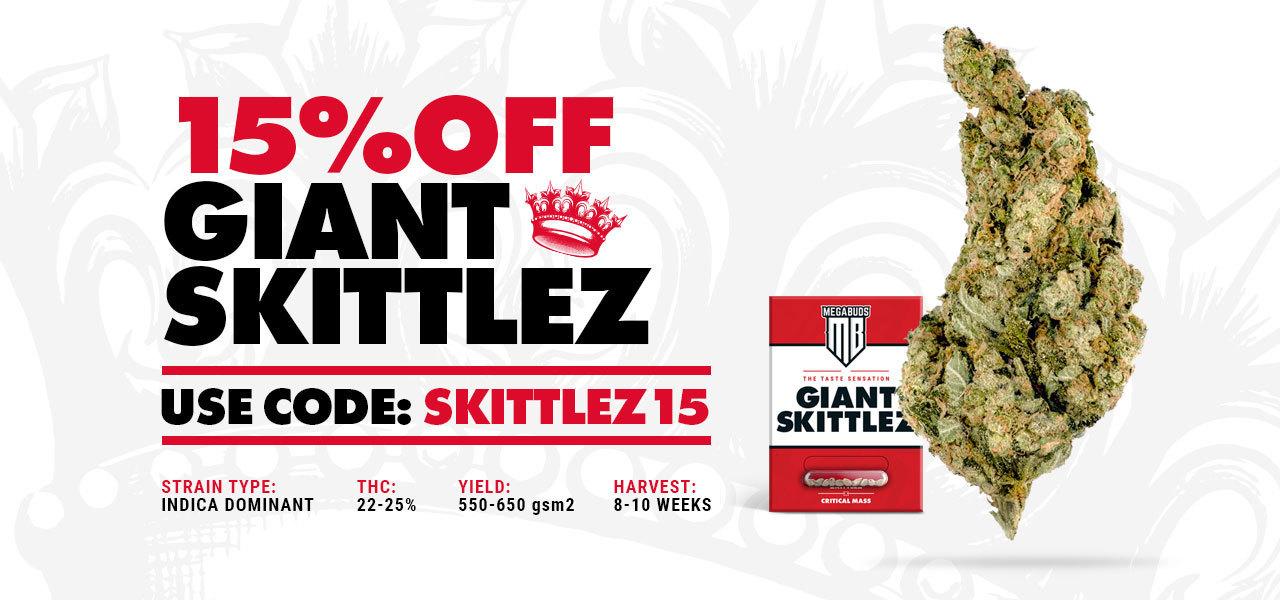 15% OFF GIANT SKITTLEZ